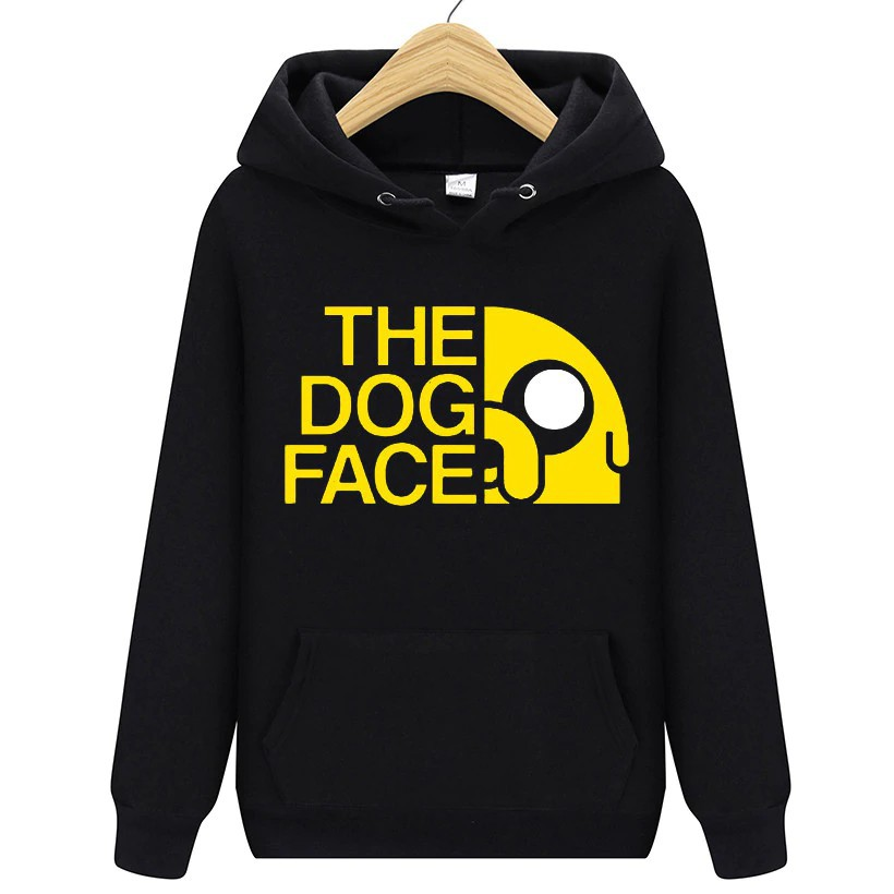 Animation Adventure Time Finn And Jake The Dog Face Sweatshirt Man And  Woman Fleece Pullover