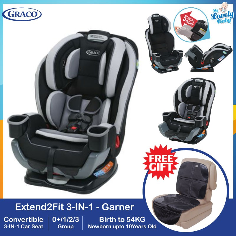 Graco Extend 2 Fit Car Seat Garner 3in1 Life Time 1to1 Crash Exchange Warranty
