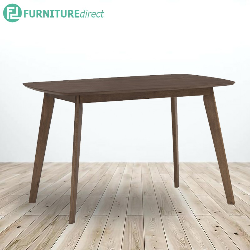 LENORE solid wood 4 & 6 seater dining table-Walnut
