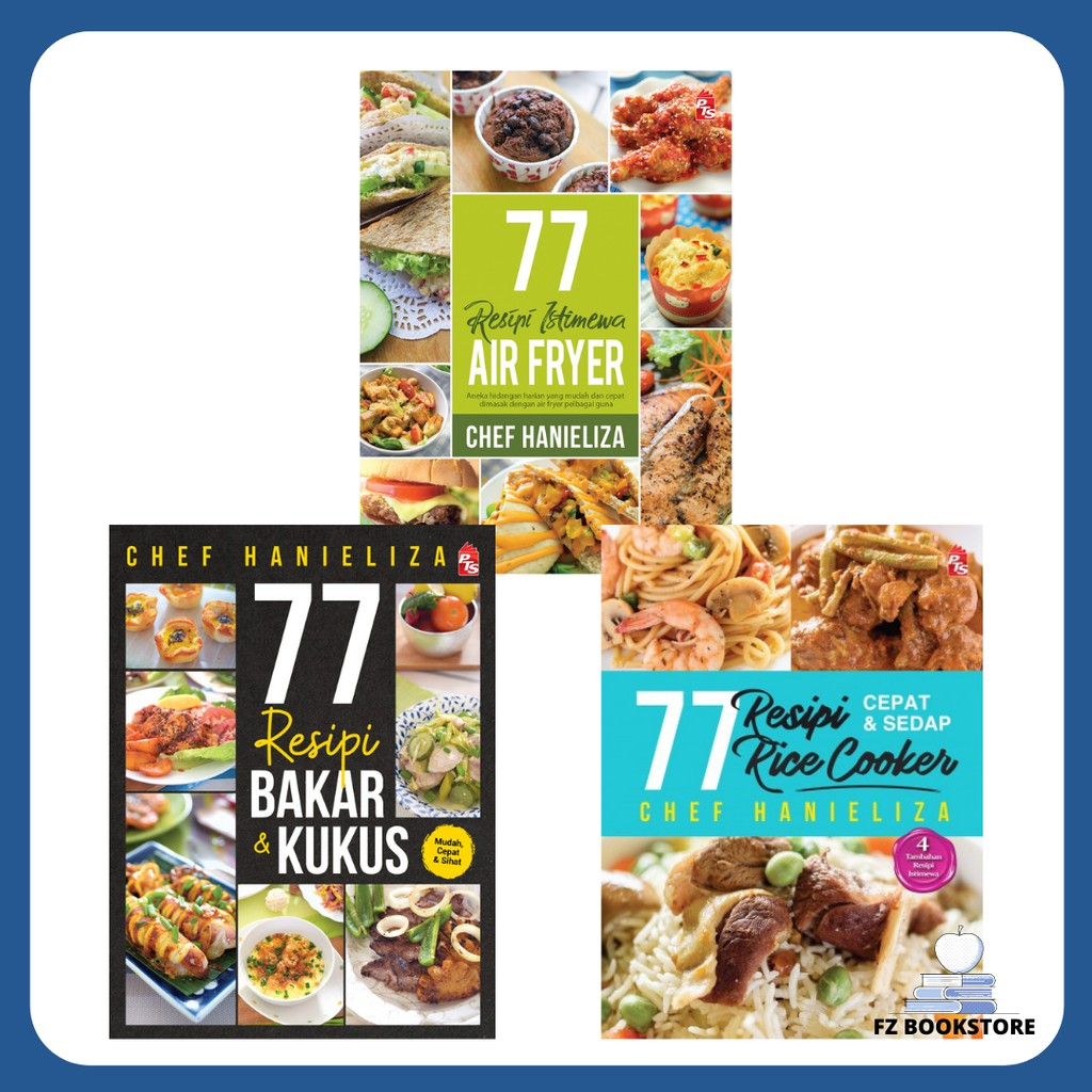 77 Resipi Chef Hanieliza Air Fryer | Rice Cooker | Bakar & Kukus - Buku Resipi Resepi Buku Masakan