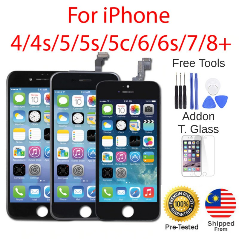 [Free Tools] iPhone LCD 4 4S 5 5S 6 6S 6P 6SP 7 7P 8 8P (SUPER AAA QUALITY)  SCREEN DIGITIZER Fullset