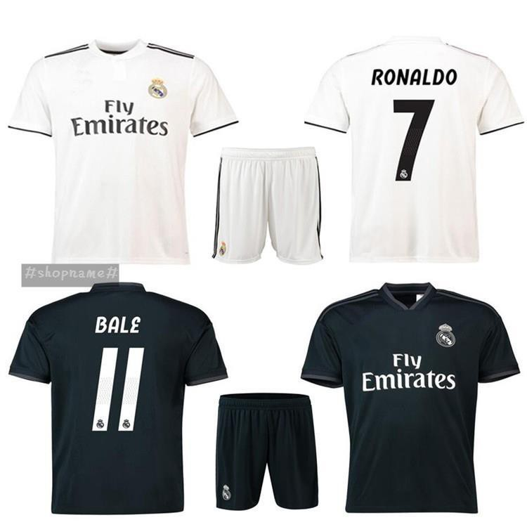 half off c77cc 2a4be Top 2019 Real Madrid Club home and away team Short sleeve football uniforms