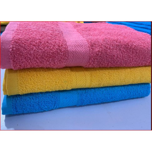 READY STOCK BATH TOWEL HOSTEL 100% COTTON IMPORT