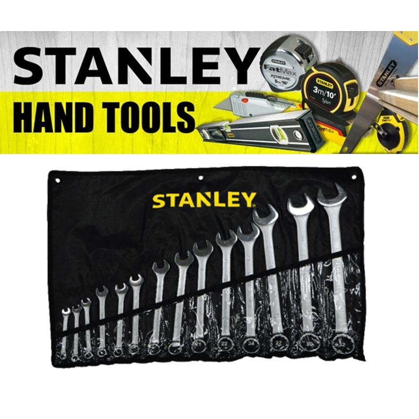 STANLEY 14 PIECE CARBON STEEL COMBIANTION WRENCH SET 80-944-8 80-946-8 MECHANIC TOOLS