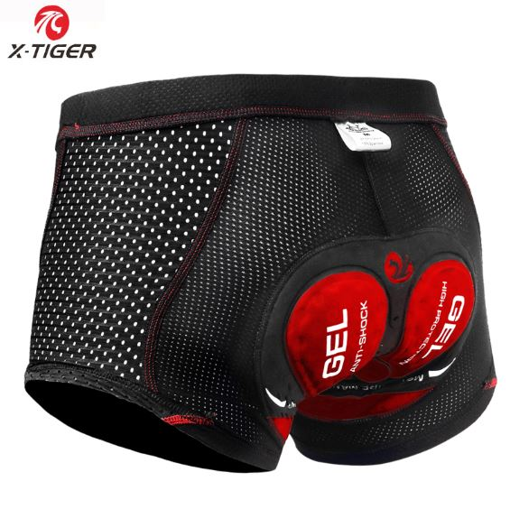 X-Tiger 2021 Upgraded Cycling Underwear Pro 5D Gel Pad Shockproof Underpant Bicycle Shorts Bike Lycra unisex