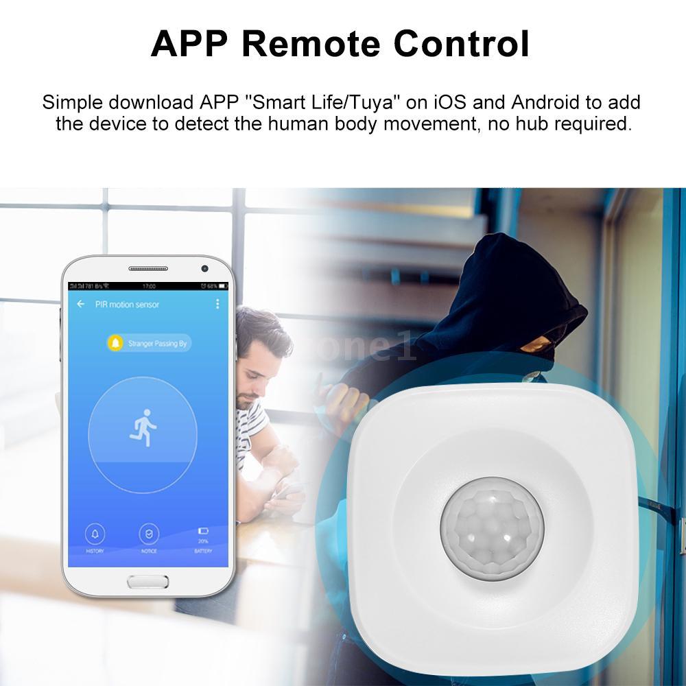 WIFI PIR Motion Sensor Wireless Passive Infrared Detector Security Burglar  Alarm Sensor Tuya APP Control Compatible wit