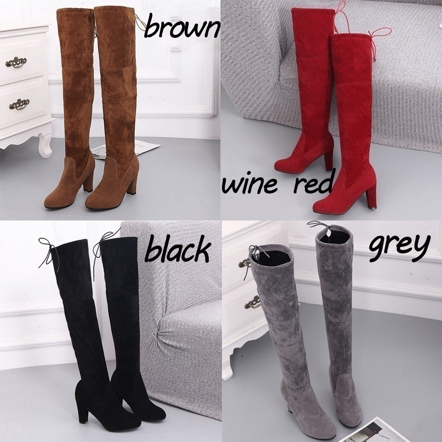 running shoes uk store store Women Stretch Slim Thigh High Boots Sexy Fashion Over The Knee ...