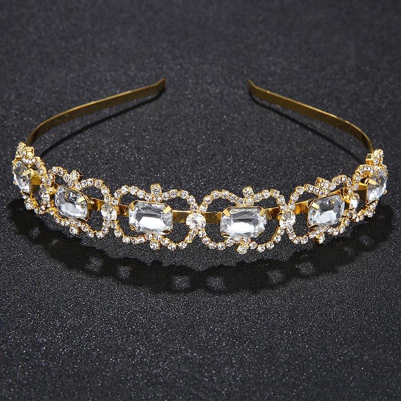 Water Diamond Bride Crown Simple Wave Shaping Hair Ornament