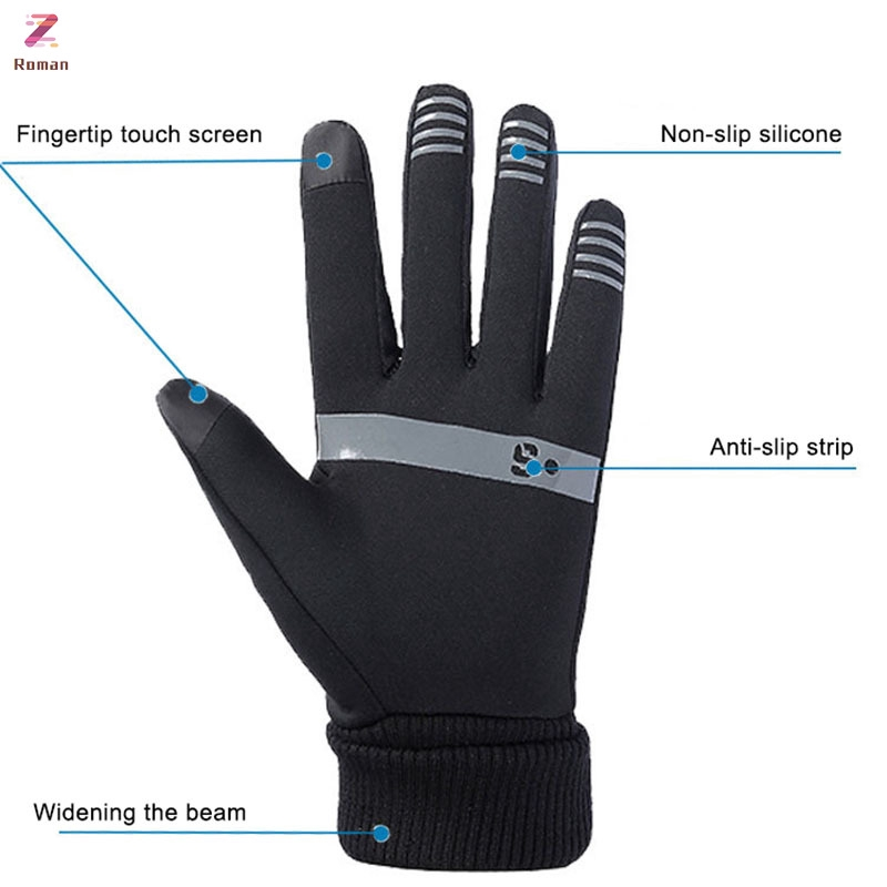 Mens Womens Liner Gloves Thermal Walking Sports Running Touch Screen Gloves