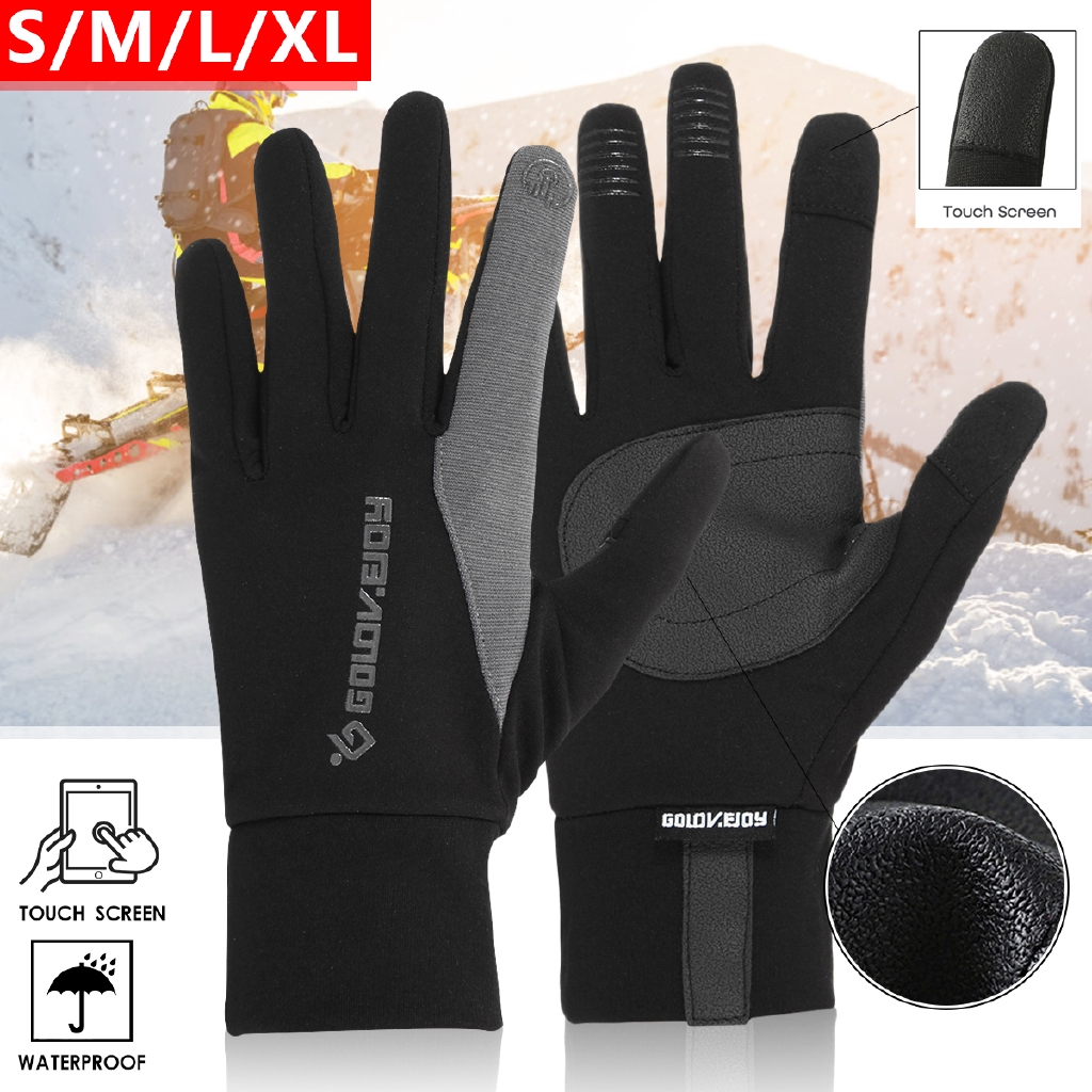 a247142ec3d29 Outdoor Touch Screen Waterproof Windproof Warm and Fleece-lined Gloves for  Riding and Skiing | Shopee Malaysia