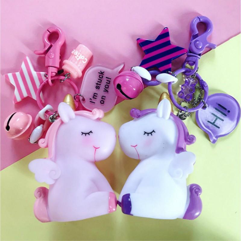 Stuffed Animals & Plush Plush Keychains 1pc 9cm Sweety Dreamy Unicorn Doll Horse Animal Soft Key Chain Bag Pendant Plush Toy Nice Kawaii Soft Stuffed Friends Child Gift