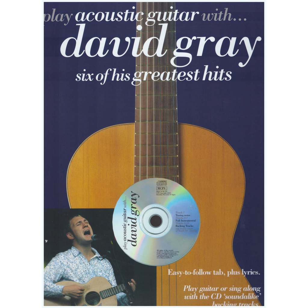 Play Acoustic Guitar With... David Gray / Vocal Book / Voice Book / Guitar Book