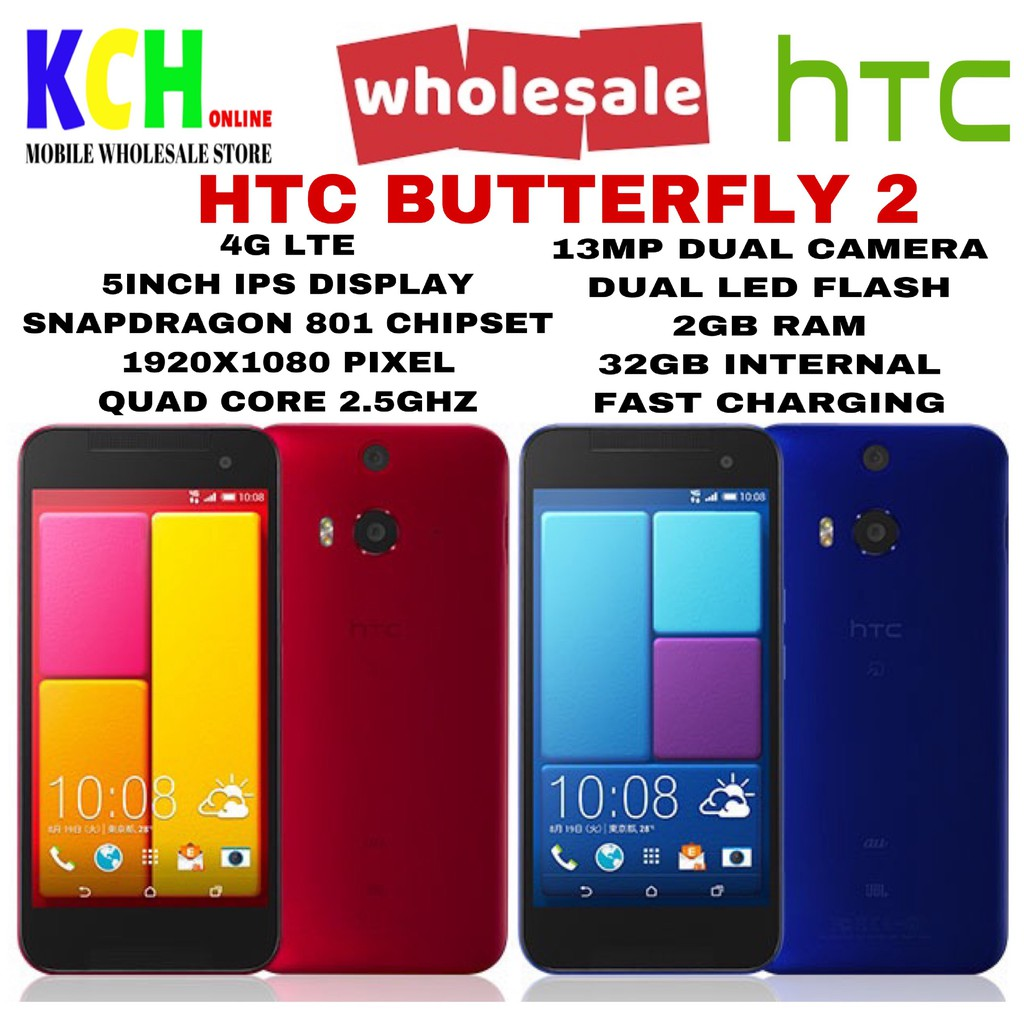 HTC ONE M8/BUTTERFLY 2(2+32GB)(100% ORIGINAL HTC DEVICE)(PRE-OWNED)