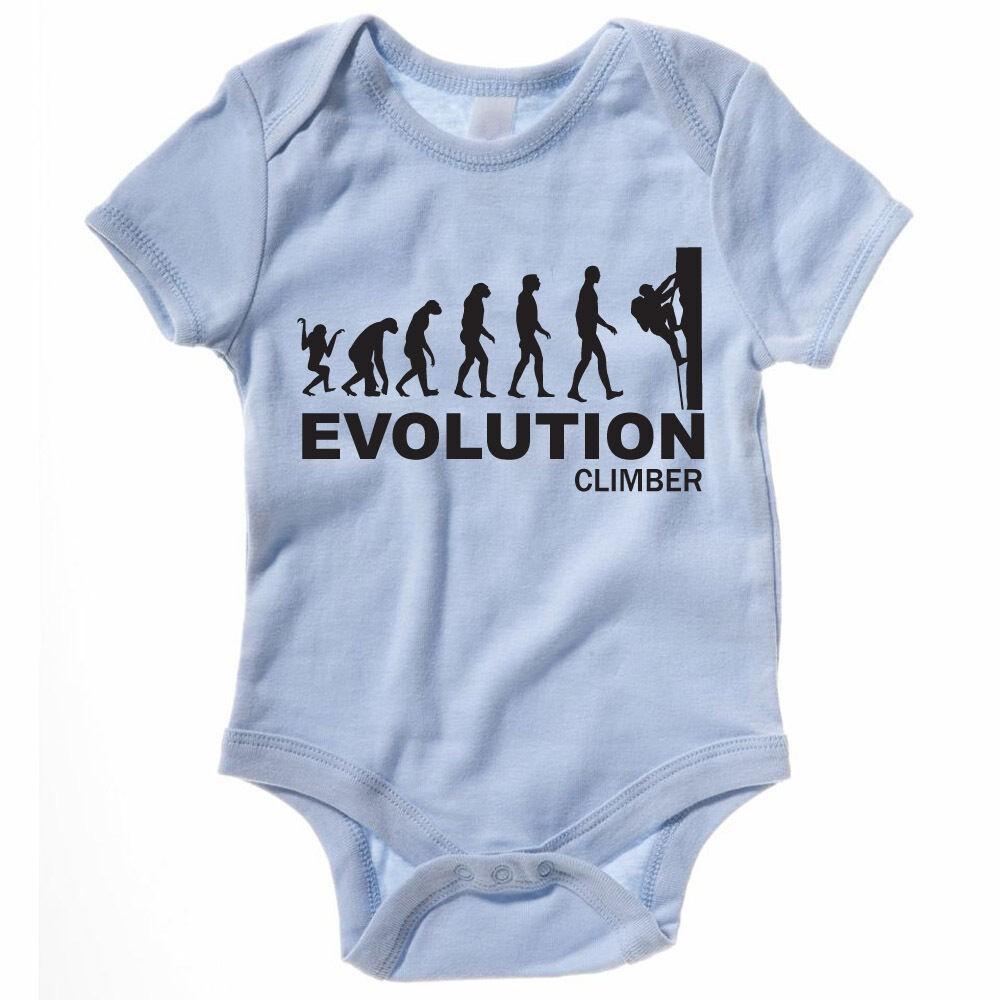 1fec155cd0ea7 EVOLUTION CLIMBER -Climbing / Sport / Science / Novelty Themed Baby  Grow/Suit