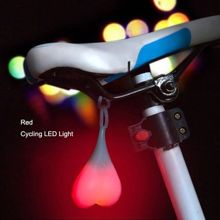 Silicone Bike Bicycle Back Rear Tail Cycling LED Light Heart Ball lamp Egg Lamp
