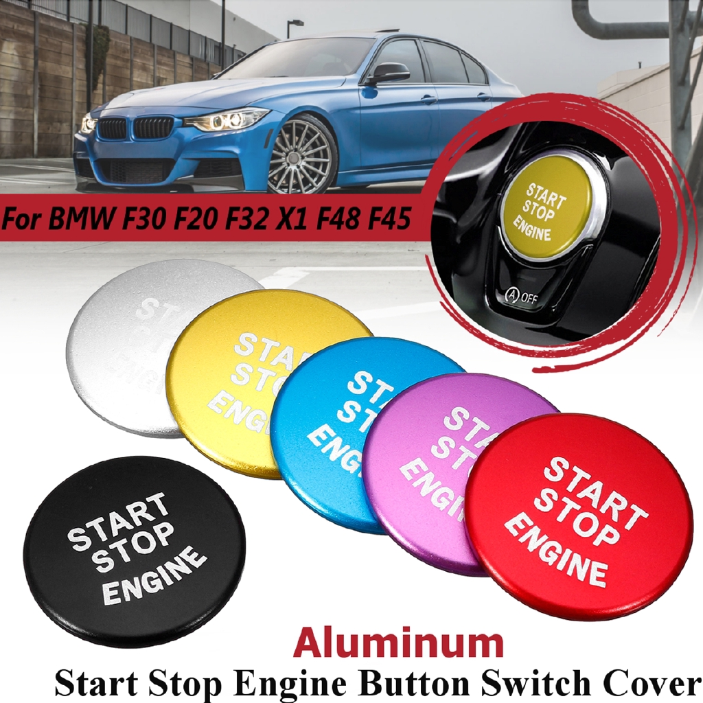 Start Stop Engine Button Switch Cover For BMW F30 F20 F32 X1 F48 F45  Aluminum