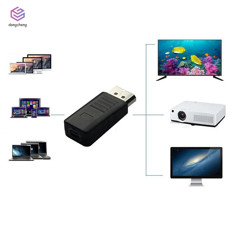 DP Displayport Male To Mini Display Port Female Convertor Adapter for HDTV
