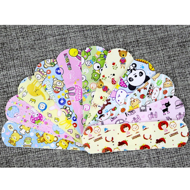 Waterproof Breathable Cartoon First Aid Bandages/Plasters ( 1Pkt = 10Pcs)