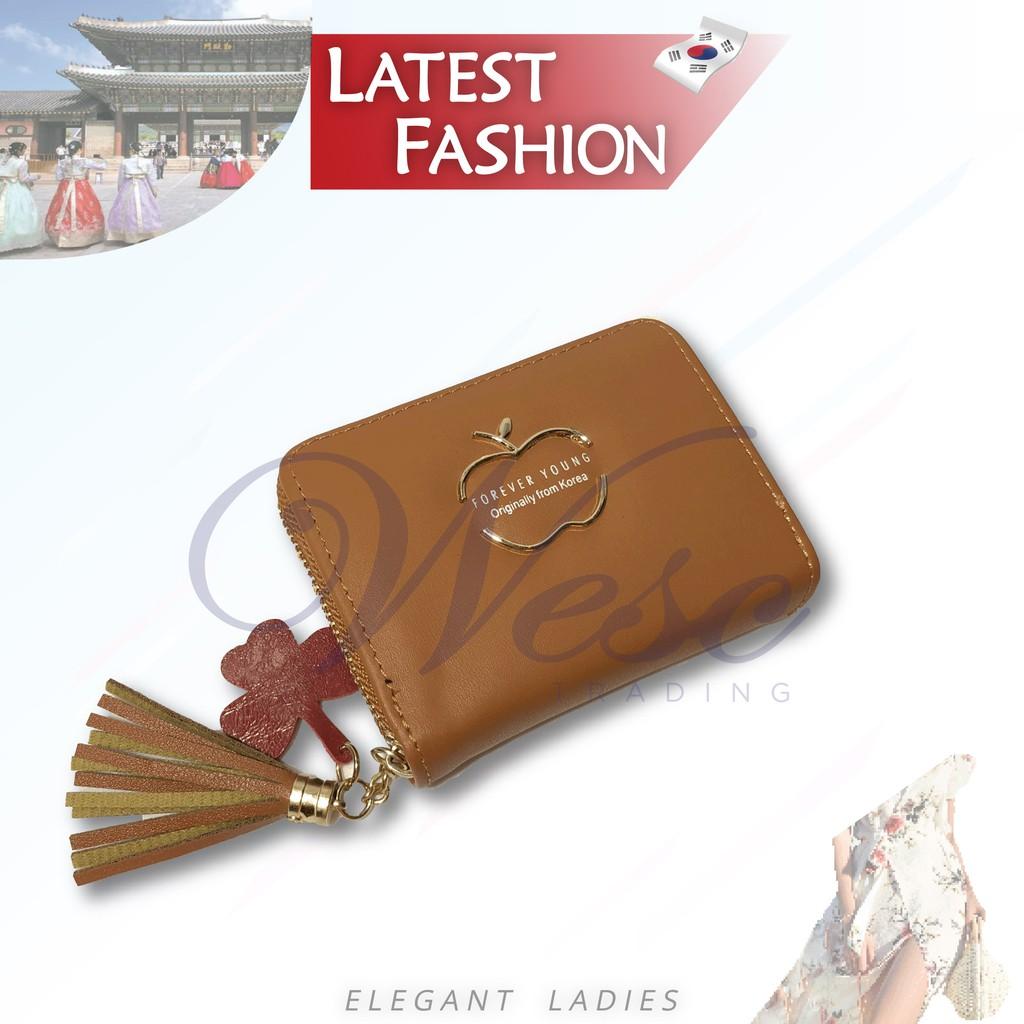 Korean Designer Fashion Latest Trendy Ladies Compact Wallet (Light Brown)