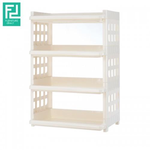 Century 515-4 tier plastic rack- white