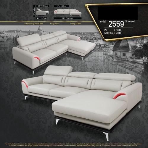 Portland L-Shape Fully Leather Sofa Lounge Chair Living Hall Sofa Chair