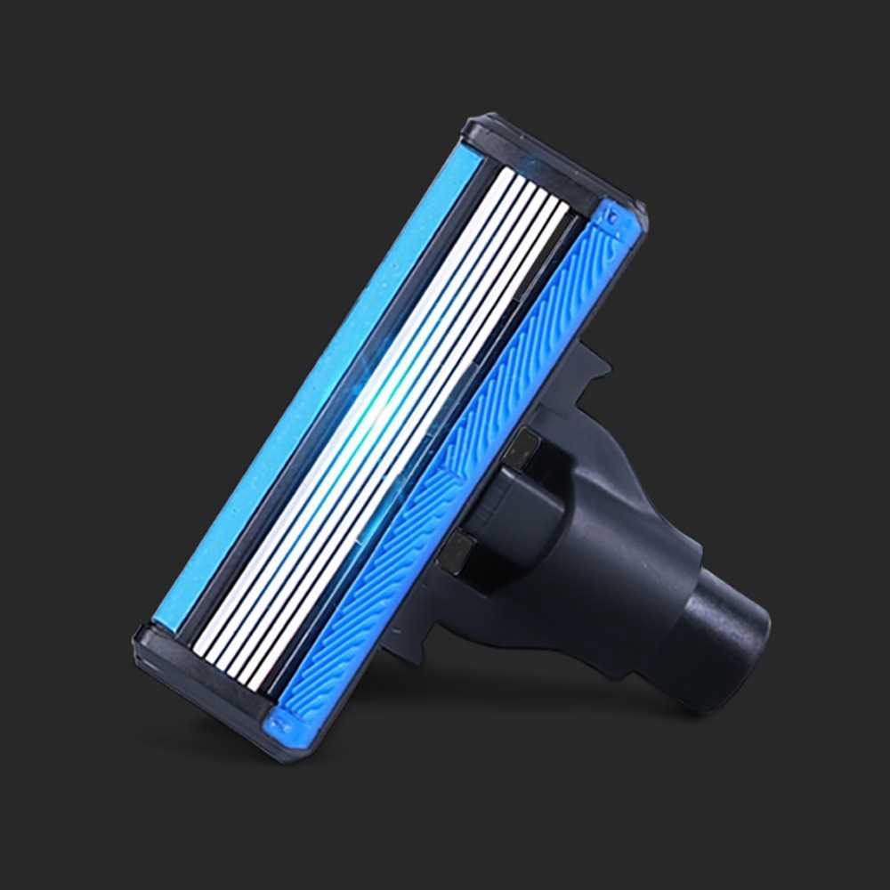 Great Discount 4 PCS Xiaomi Huanxing Men Razor Replace Shaver Heads High-quality German 6-edges Shaving Handle Not incl