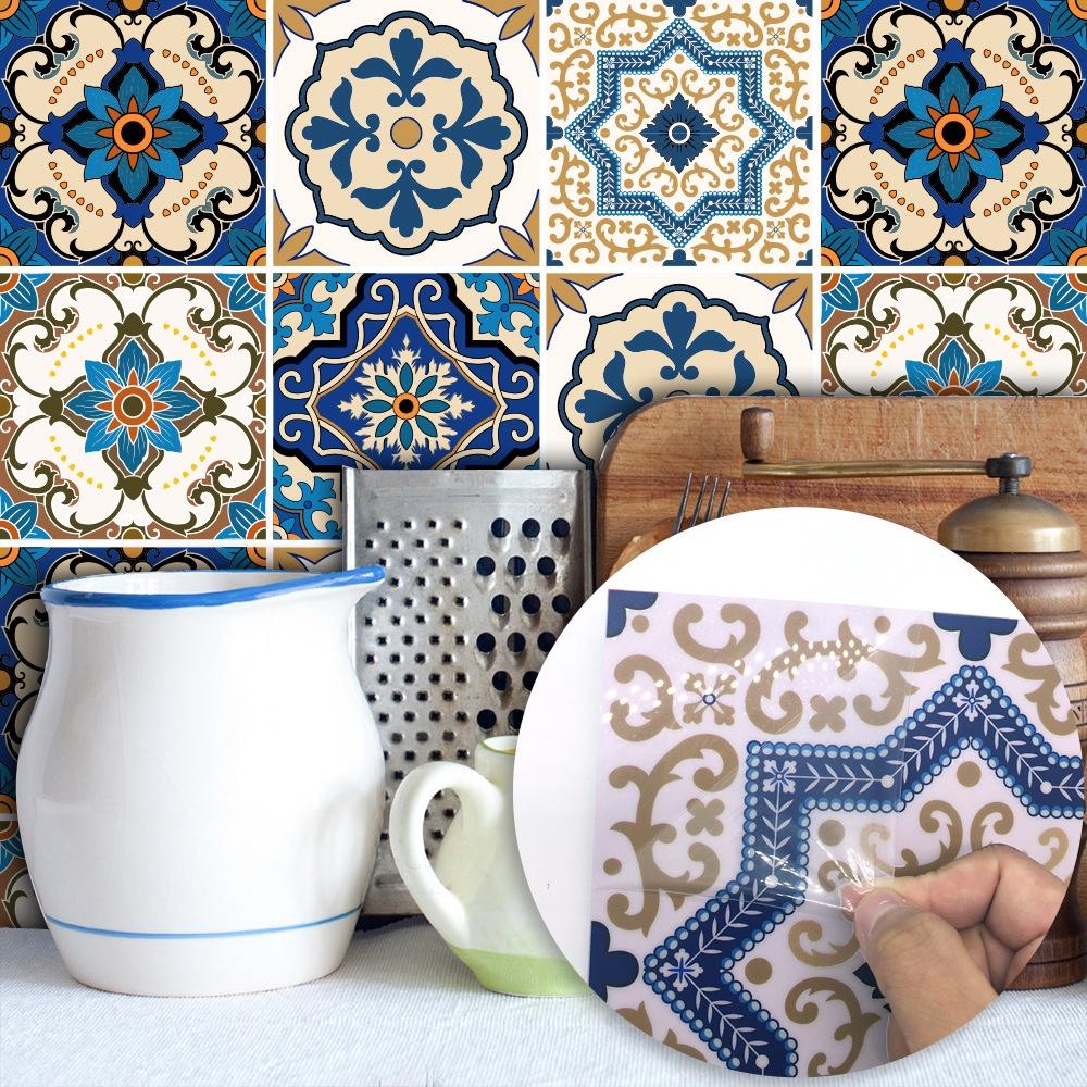 - 10pcs Tile Stickers, Waterproof Tiles Stickers Bathroom & Kitchen