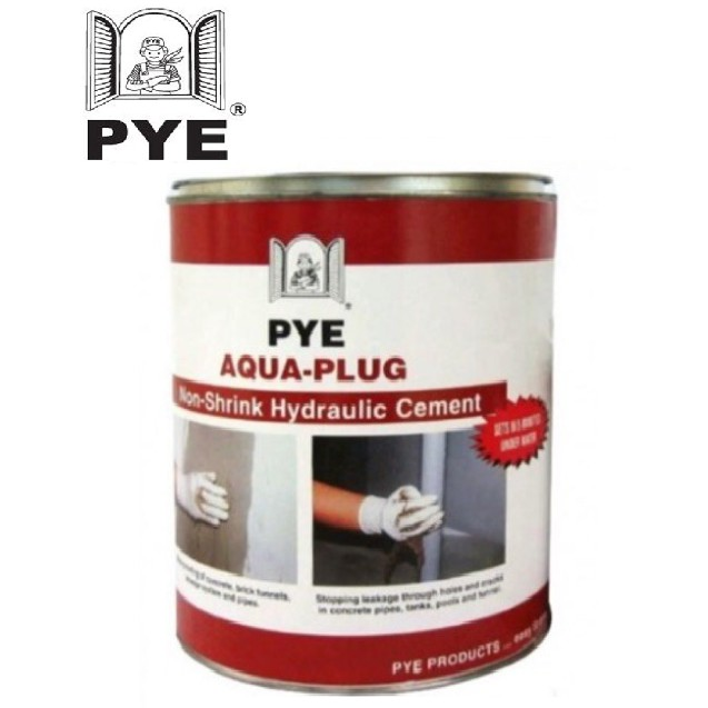 PYE AQUA PLUG 4.5KG NON SHRINK HYDRAULIC CEMENT STOPPING WATER LEAKAGE.