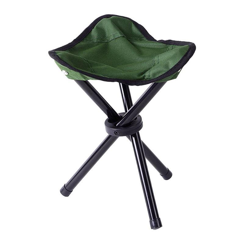 c4b9e420430d Folding Tripod Stool Outdoor Portable Camping Seat Lightweight Fishing  Chair NEW