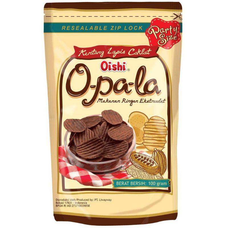 Oishi Opala  Kentang Lapis Coklat 1 Box 20 Pack (100g) 巧古力薯片*批发价*