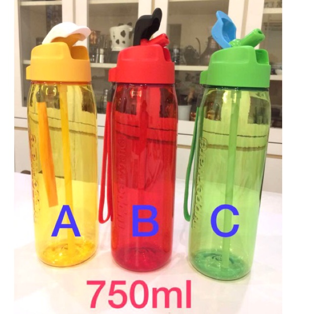 Tupperware Brands H2GO Bottle (2) 750ml Jet Black & Lychee | Shopee Malaysia