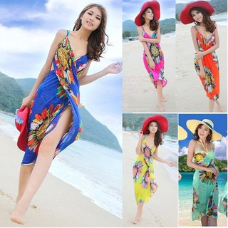 15766fd88e371 💯bling💯Women Floral Chiffon Bikini Cover Beach Dress Swimwear Wrap