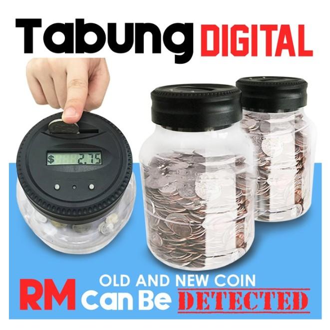 MALAYSIA- TABUNG DUIT SYILING DIGITAL BOLEH KIRA AUTO JUMLAH DUIT / Tabung Digital