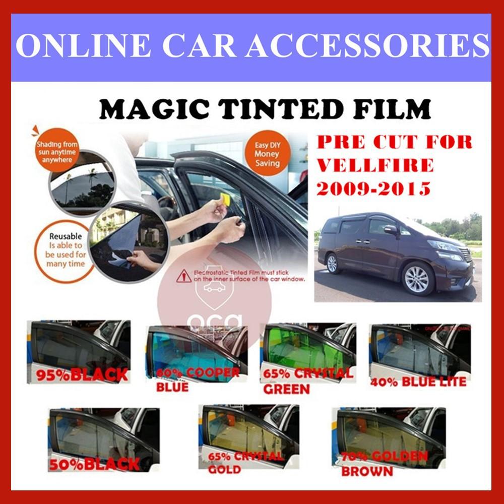 Toyota Vellfire 2009-2015  - Pre-Cut Shape Magic Tinted Solar Tinted (4 Windows & 2 Triangle /4 Windows+Rear)