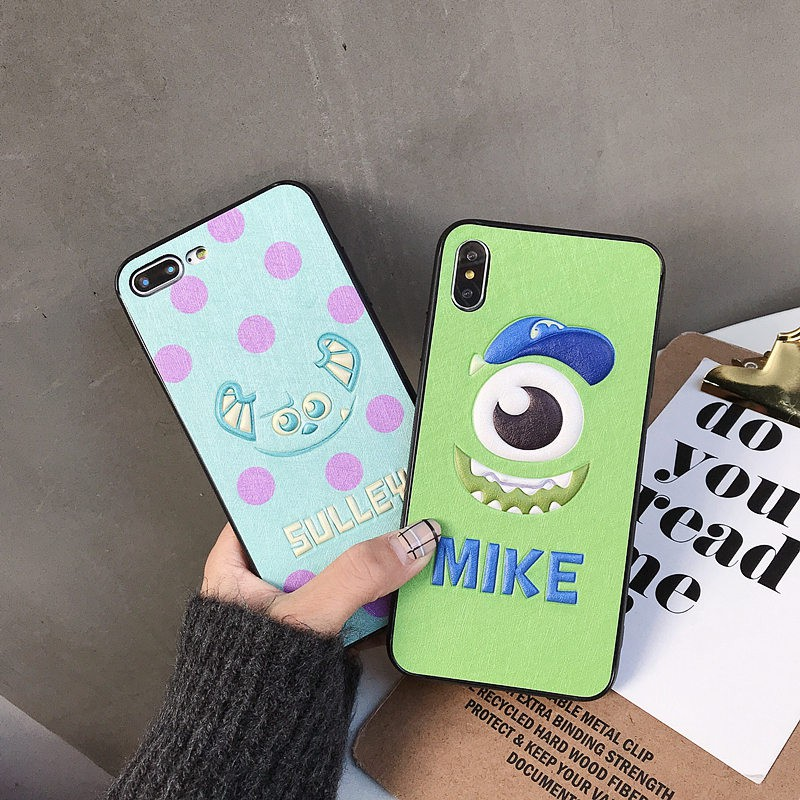 Cute Cartoon 3D Sully Mike Phone Cover iPhone X XR XS Max 6 6S 7 8 Plus  Casing