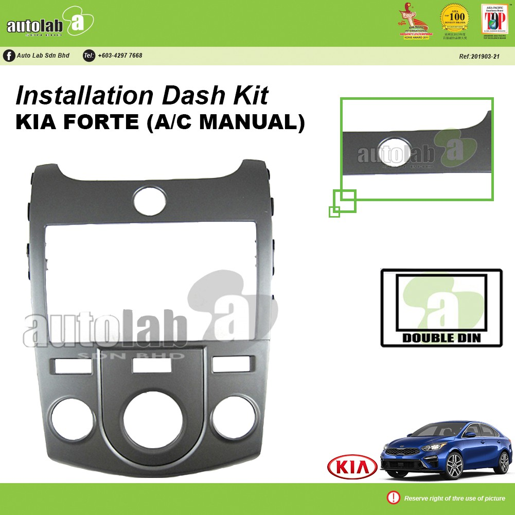 Player Casing Double Din KIA Forte (A/C Manual)