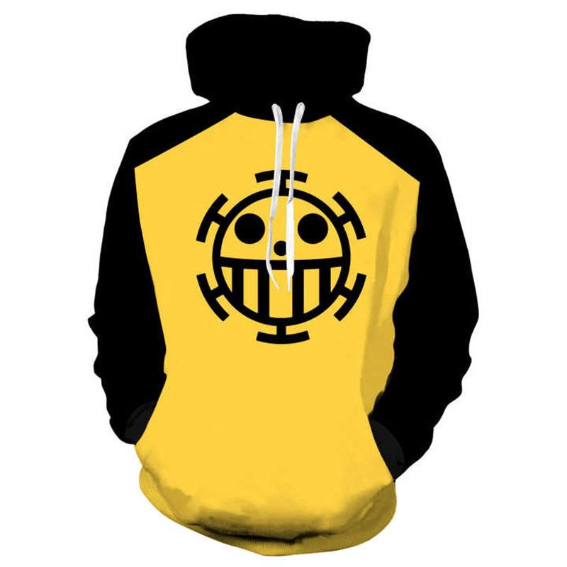 f39b3e3eb 3D One Piece Trafalgar D Water Law Printed Men's Fashion Hoodie ...