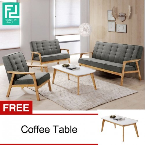 Cool Furniture Direct Somerset 1 2 3 Wooden Sofa Set With Free Coffee Table Pabps2019 Chair Design Images Pabps2019Com