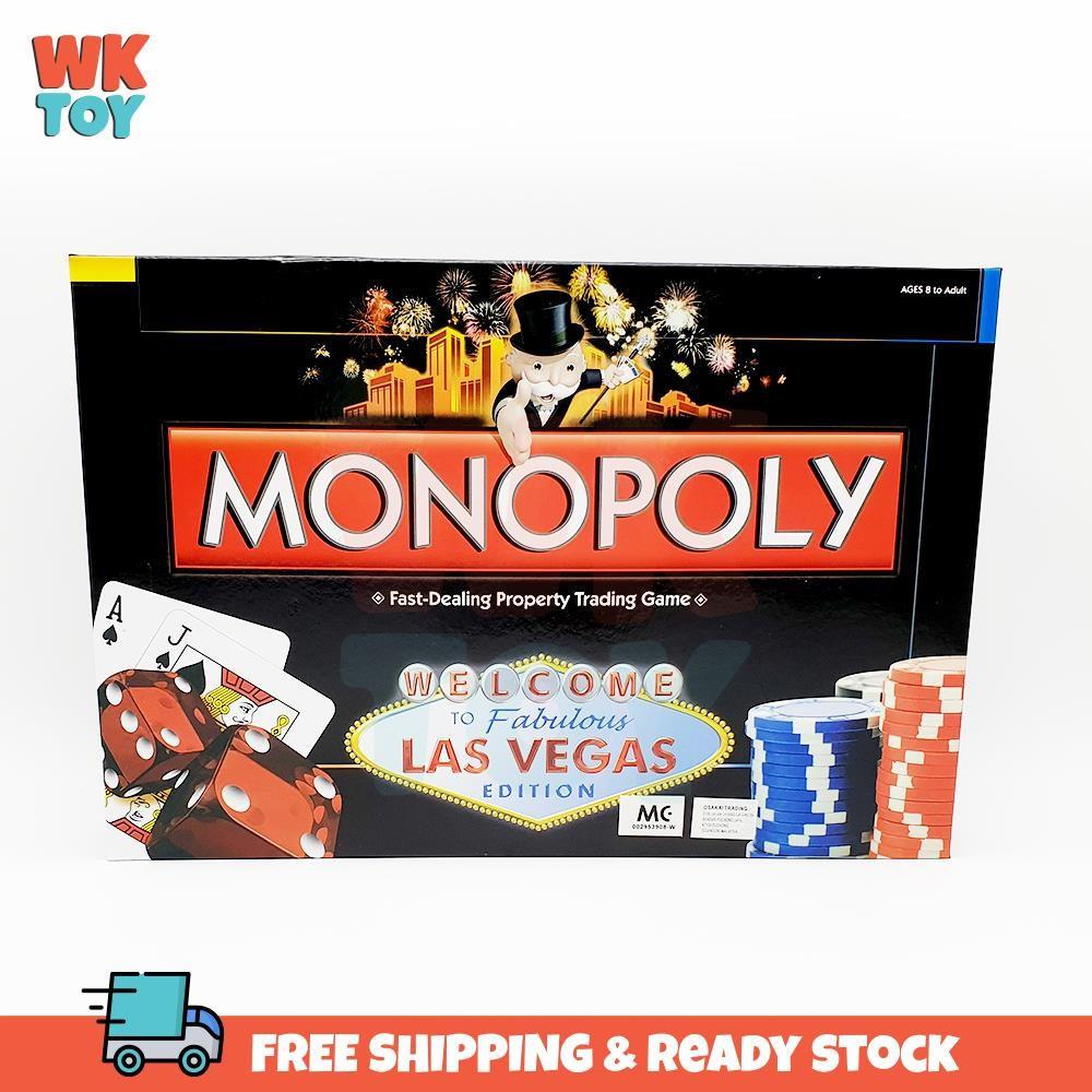 WKTOY Family Board Game Monopoly Fabulous Las Vegas Edition
