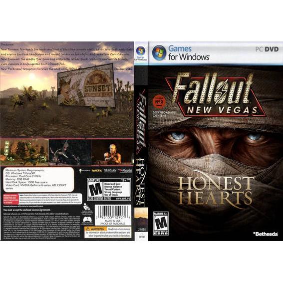 PC DVD OFFLINE Fallout New Vegas Honest Hearts DLC (2 DISC)