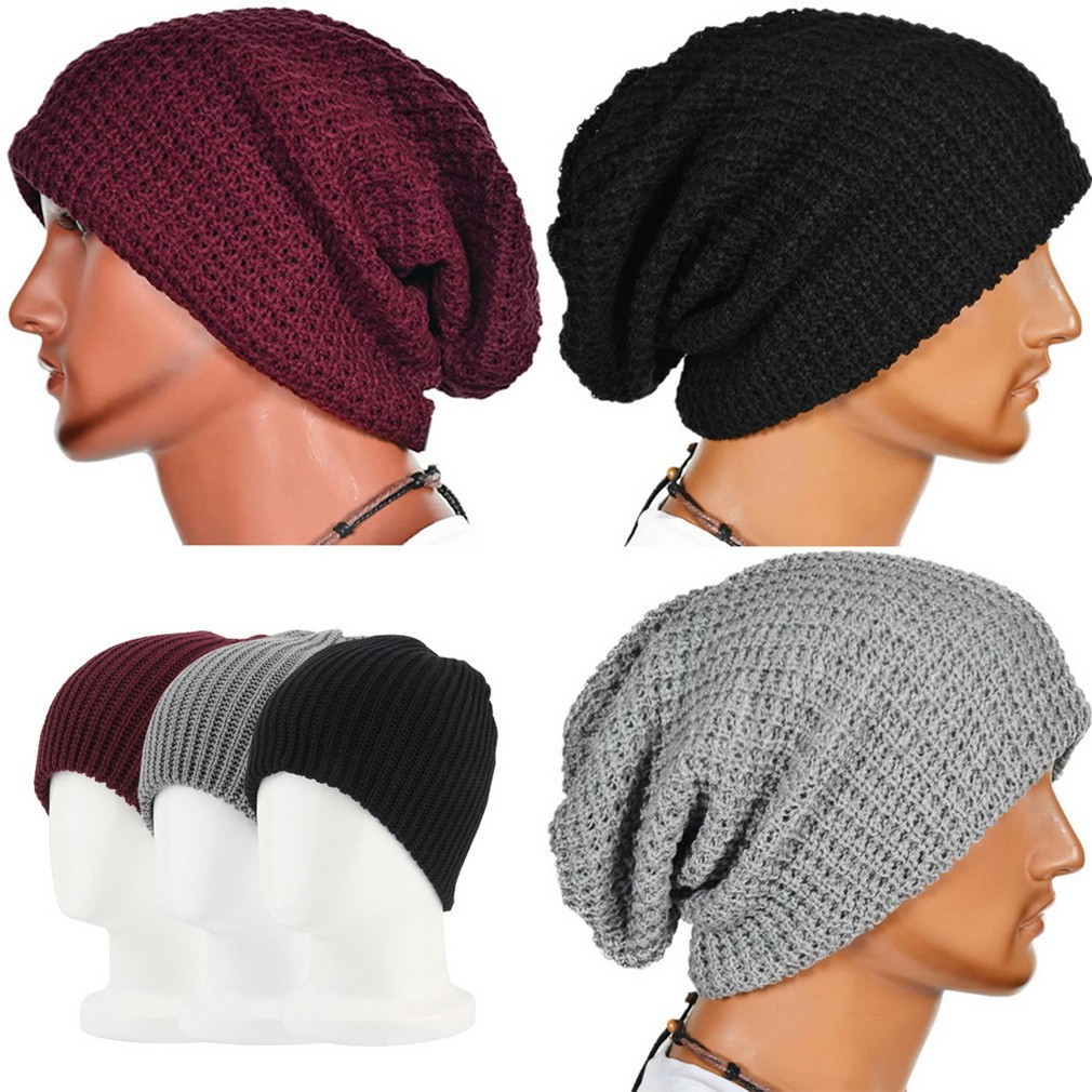 9d4e47c28 FMD Men Women Warm Winter Knit Ski Beanie Slouchy Oversize Cap