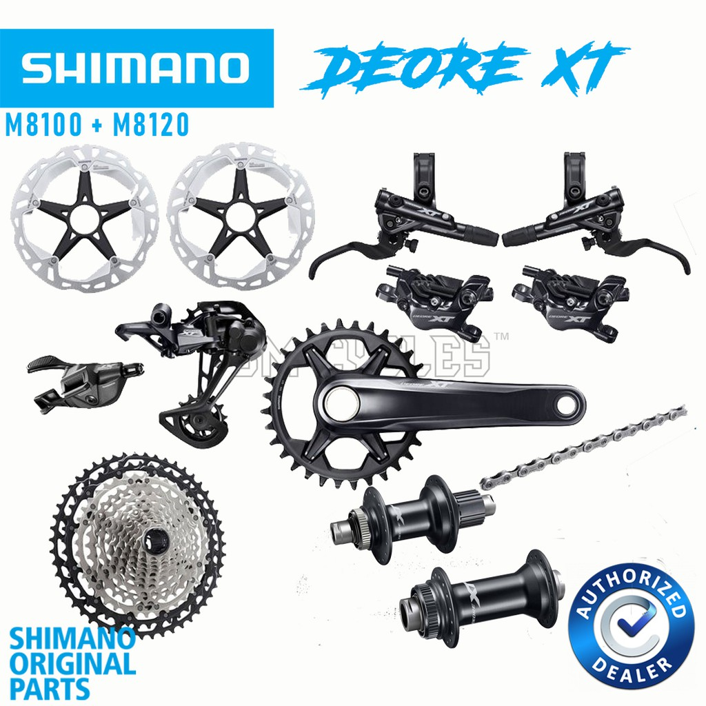 Shimano XT M8100 1x12-speed Groupset + Hubs 12 Speed 4 Pot Brakeset M8120  with boost hub Complete Set
