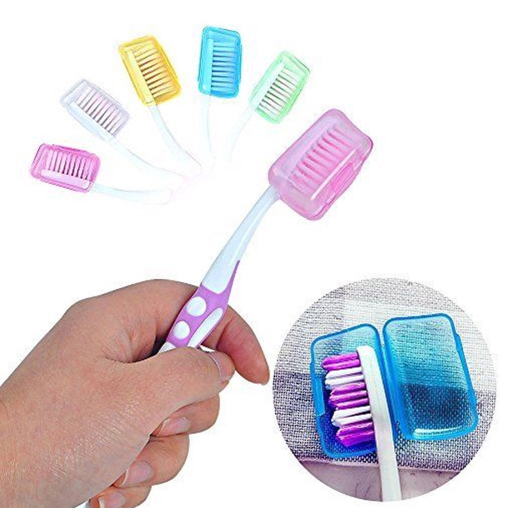 Portable Travel Toothbrush Head Cover Case Caps Hike Camping Brush Cleaner/%#