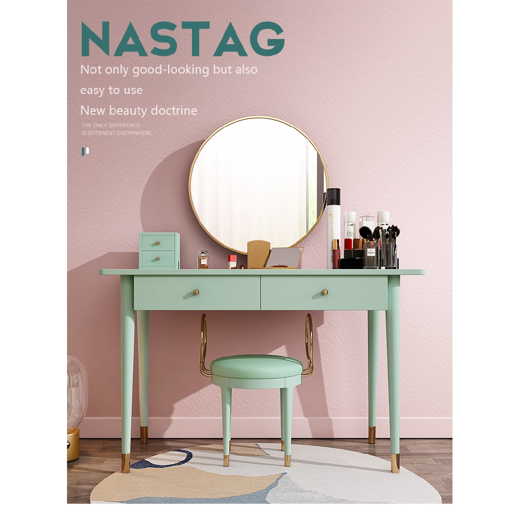 Bedroom Furniture Vanity Dressing Table With Mirror Set Chair Multi Function Korean Make Up Table Shopee Malaysia
