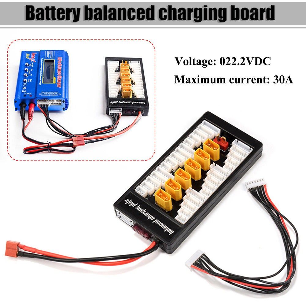 Parallel Adapter Cable Xt60 Battery Pack Connector Series Wiring 14awg For Rc Lipo