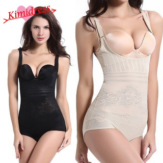 11c6ced8a1756 Full Body Shaper Bodysuit Corset Slimming Shapewear