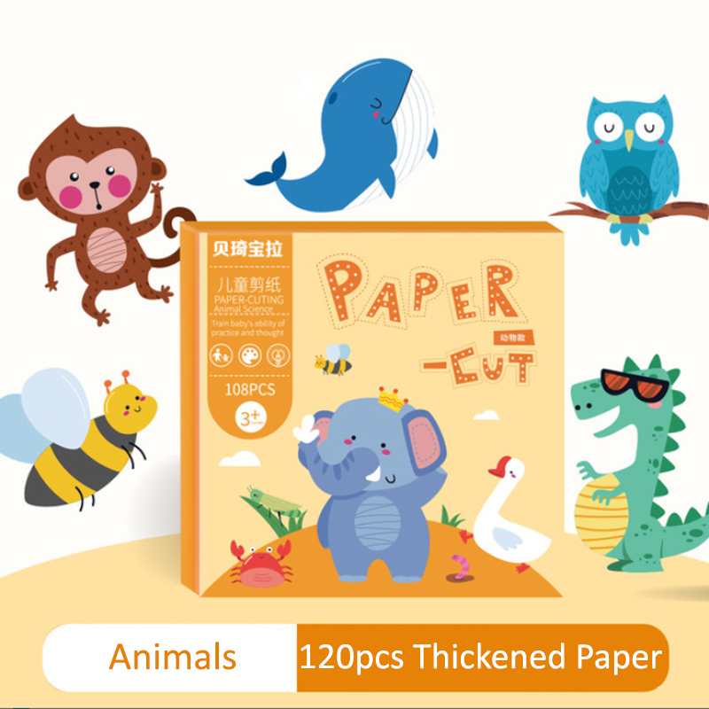 GDeal DIY Easy Cutting Childrens Fun Handmade Early Education Kindergarten Paper Cutting Set