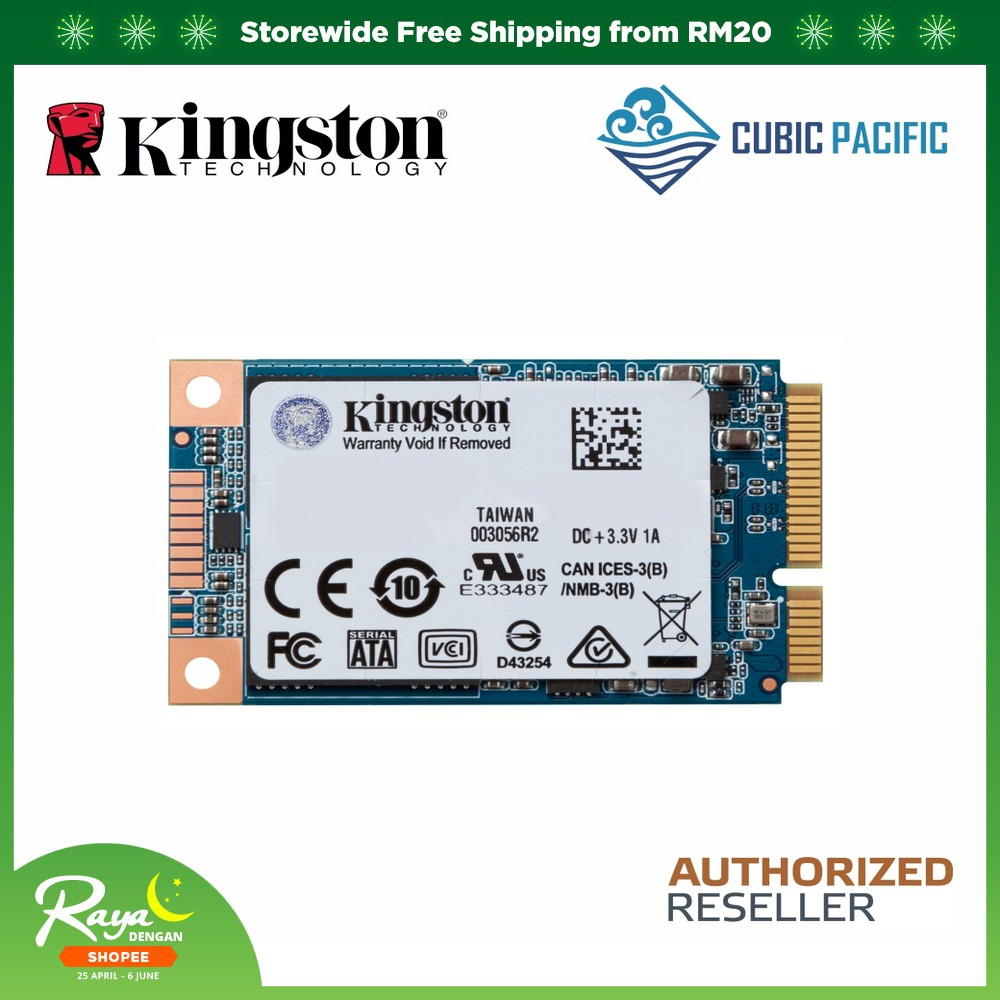 Kingston UV500 mSATA 120GB/240GB/480GB 3D TLC SSD