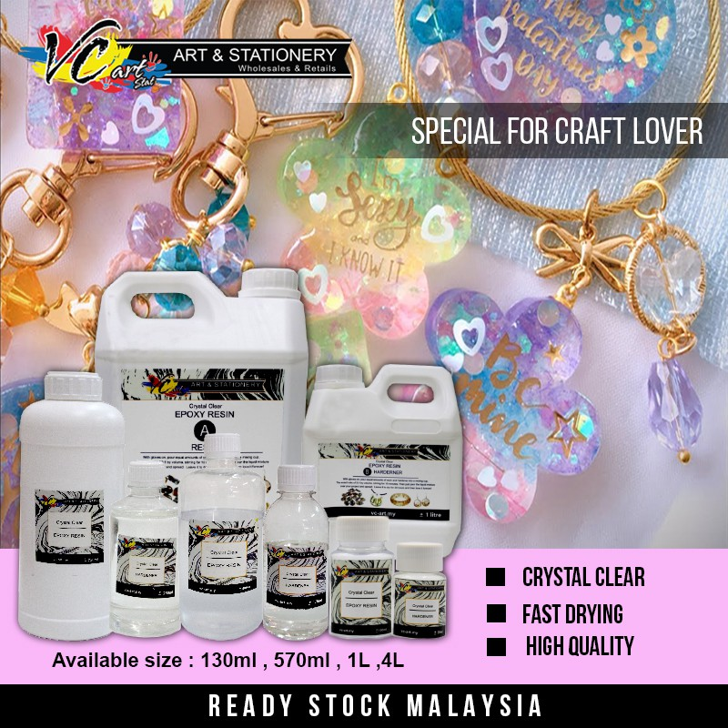 Craft  E Epoxy Resin AB with Hardener Crystal Clear, High Quality 水晶滴胶