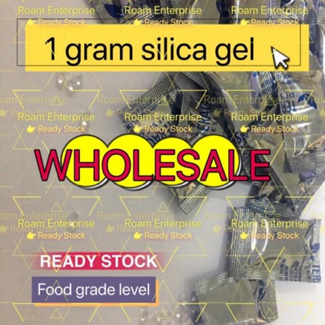 [Ready Stock] roam enterprise Silica Gel Desiccant 1 gram & 10gram per pack for food grade,electronic and etc